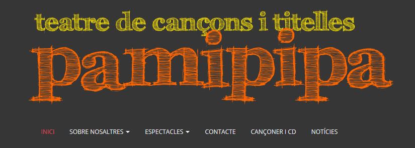 Nova web de Cançons i Titelles Pamipipa