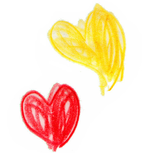 Cor vermell i cor groc titelles 0-3 anys