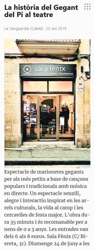 201806 La Vanguardia - El gegant del pi