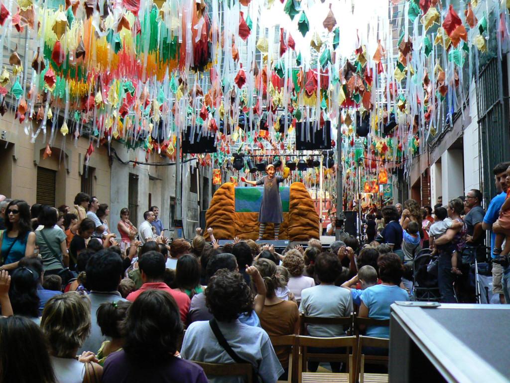 Festes de Gràcia. Carrer Joan Blanques