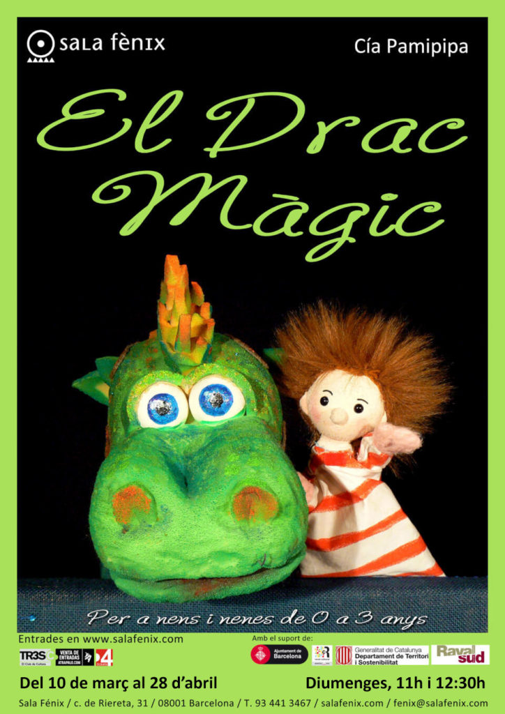 El drac màgic a Sala Fènix. Espectacle de titelles i cançons per a infants de 0 a 3 anys