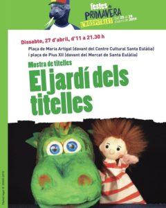 Cartell de la primera mostra de titelles de L'Hospitalet de Llobregat. El Jardí dels titelles