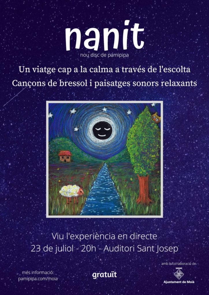 Cartell de presentació del disc Nanit a l'auditori Sant Josep de Moià